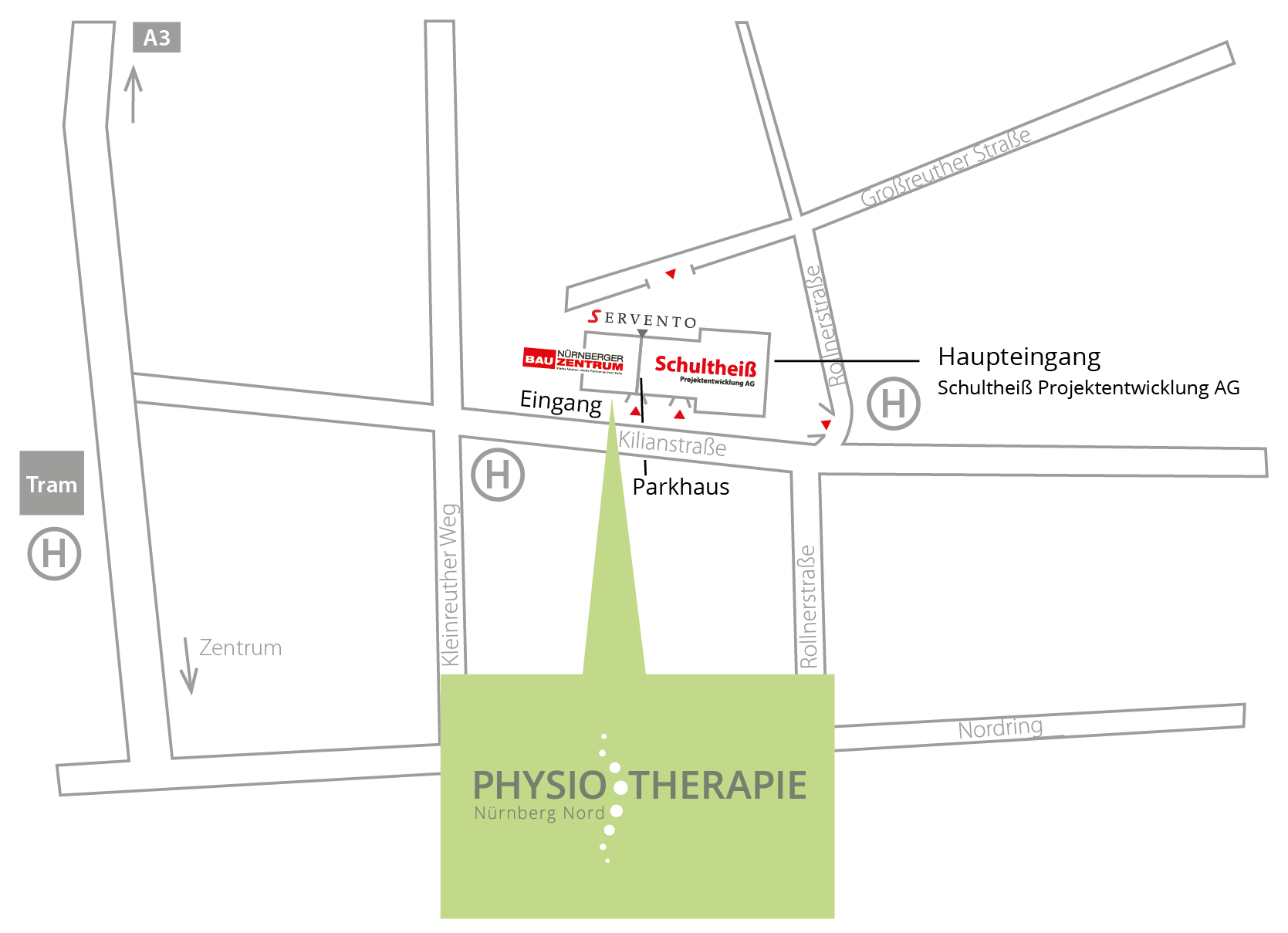 Wegbeschreibung _Physiotherapie_Nuernberg